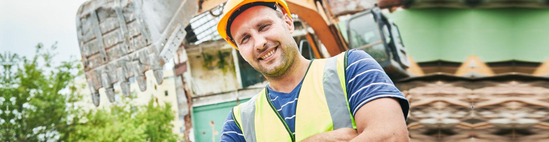 demolition man smiling